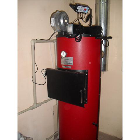 Котел длительного горения SWaG U 40 кВт на дровах, брикетах, пеллетах, угле. С автоматикой.