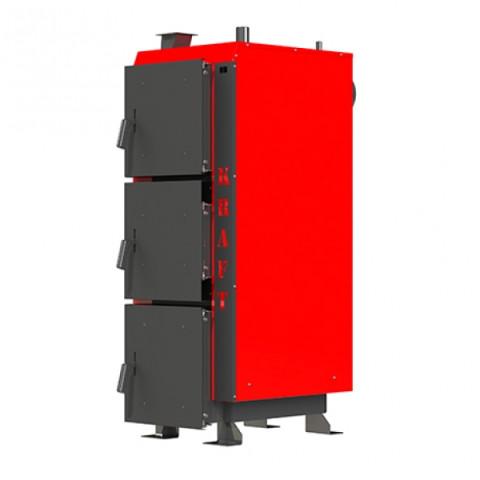 Котел длительного горения Kraft серия L 75 кВт, с блоком управления и вентилятором наддува