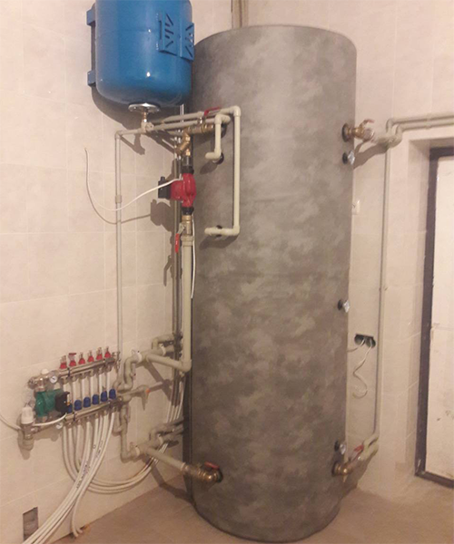 п. Затишье - Дом (монтаж системы отопления)