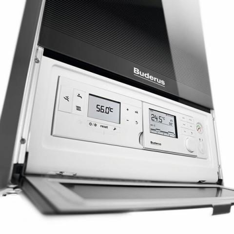 Газовый котел конденсационный Buderus GB172iW 35 одноконтурный (черный) Logamax plus