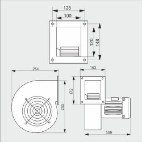 Вентилятор CMB2/160 для твердотопливного котла, надувной