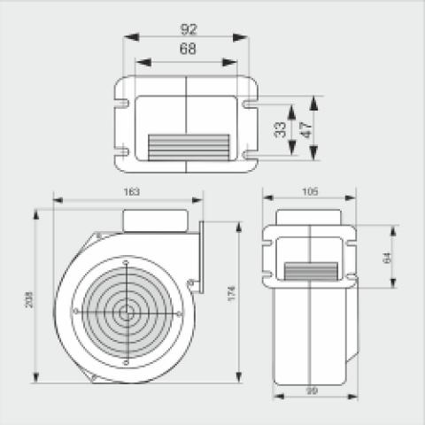 Вентилятор WPA 06К, надувной, для котлов мощностью до 30 квт