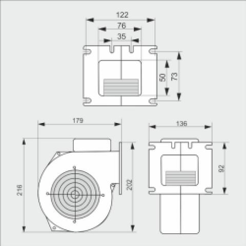Вентилятор WPA 120 К для твердотопливного котла
